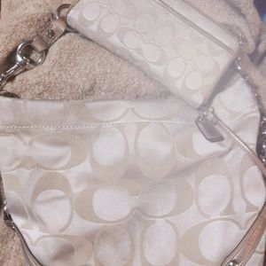 Coach signature carly bag with matching wallet